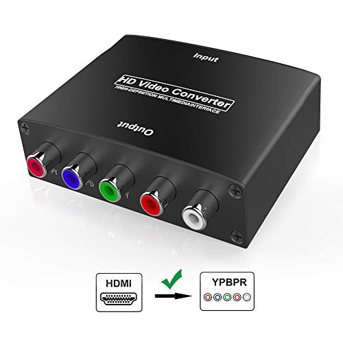 HDMI to YPbPr Converter, Wenter 1080P HDMI to Component Converter with HD Video, Support...