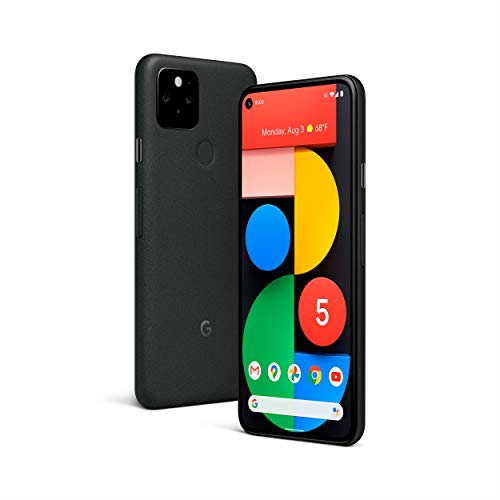 Google Pixel 5 - 5G Android Phone - Water Resistant - Unlocked Smartphone with Night Sight...
