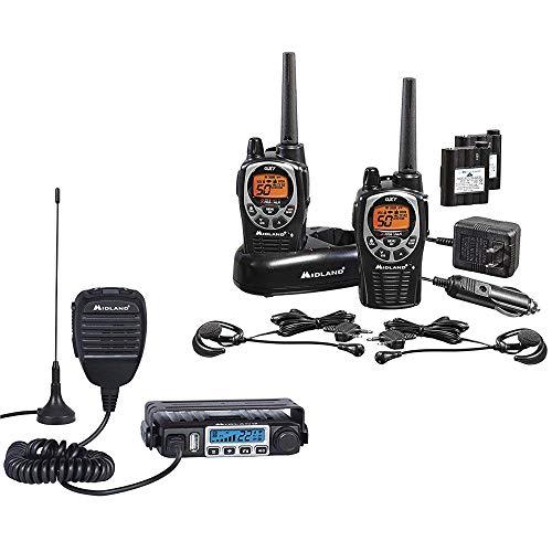 Midland - MXT115 & GXT1000 Bundle - MicroMobile Two-Way Radio w/External Magnetic Mount...