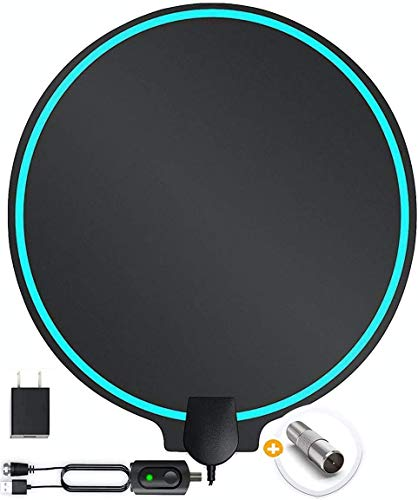 TV Antenna Improved Patented Round Shape supports up to 200 Miles Range, Support Fire...