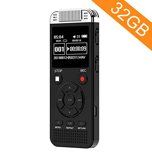 32GB Digital Voice Recorder, Homder Voice Activated Recorder for Lectures Meetings Class,...