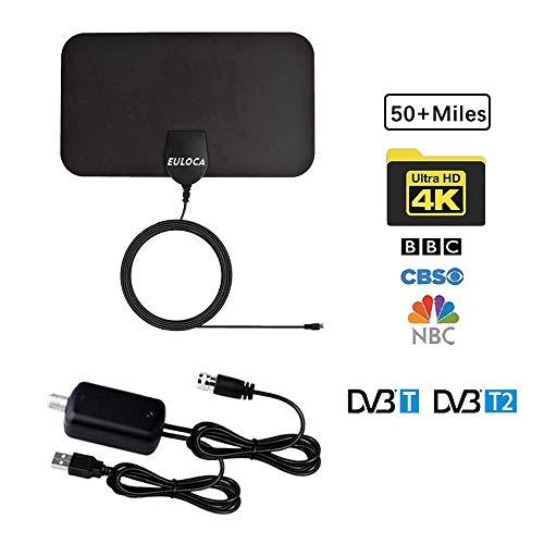 TV Antenna, [2019 Newest] Indoor Digital HDTV Amplified Antennas Freeview 4K 1080P HD VHF...