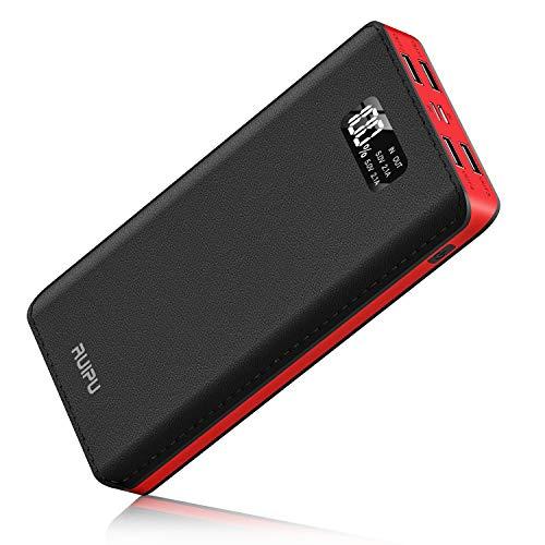 Power Bank 24000mAh Portable Charger Battery Pack 4 Output Ports Huge Capacity Backup...