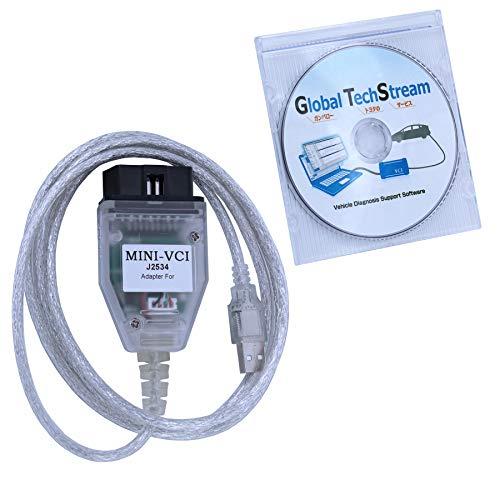 SZ-TONDA Mini Vci Techstream J2534 Cable - V14.10.028 Software 64bit Mini VCI J2534 OBD2...