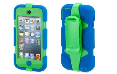 Griffin Blue/Green Survivor Case + Belt Clip for iPod Touch (5th/ 6th gen.) - Extreme-Duty...