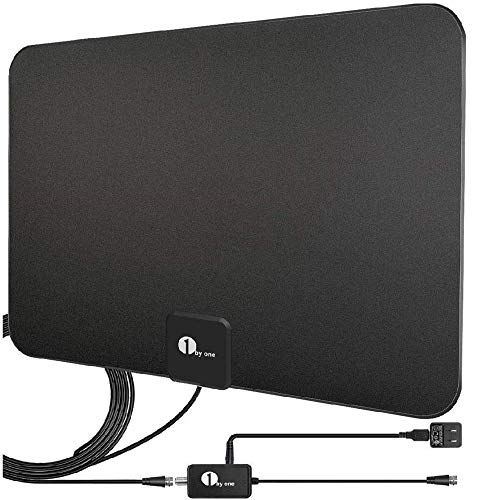 TV Antenna, Digital Indoor HD TV Antenna with Amplifier Signal Booster - Support 4K 1080P...