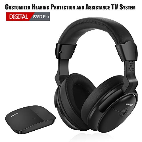 SIMOLIO Hearing Protection Wireless TV Headphones, Over Ear for Seniors Hard of Hearing,...