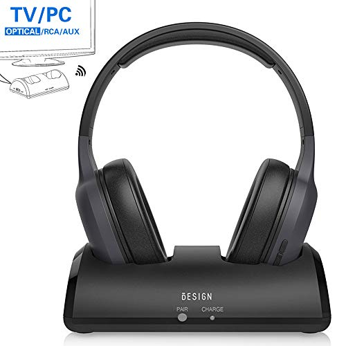 Besign Wireless Headphones for TV Watching with Bluetooth Transmitter Charging Dock,...
