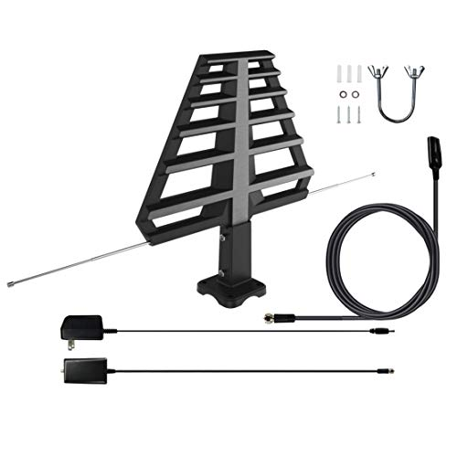 ANTAN Outdoor Antenna with Mounting Base For Attic or Roof & 33FT RG6 Coax Cable- 65-75...