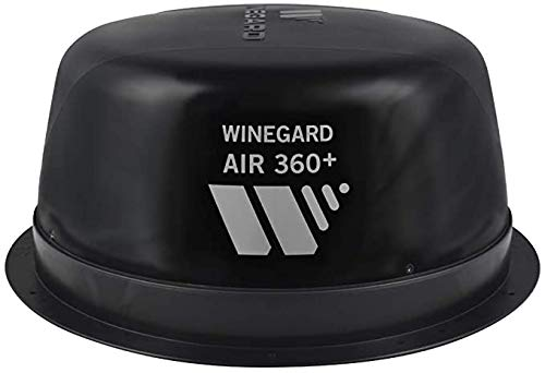 Winegard AR-360B Air 360+ Amplified Omnidirectional VHF/UHF and FM RV Antenna with AR-360B