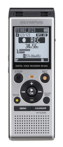 Olympus Voice Recorder WS-852 with 4GB, Automatic Mic Adjustment, Simple Mode, SILVER...