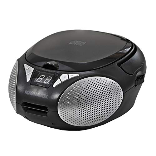 Magnavox MD6924 Portable Top Loading CD Boombox with AM/FM Stereo Radio in Black |...