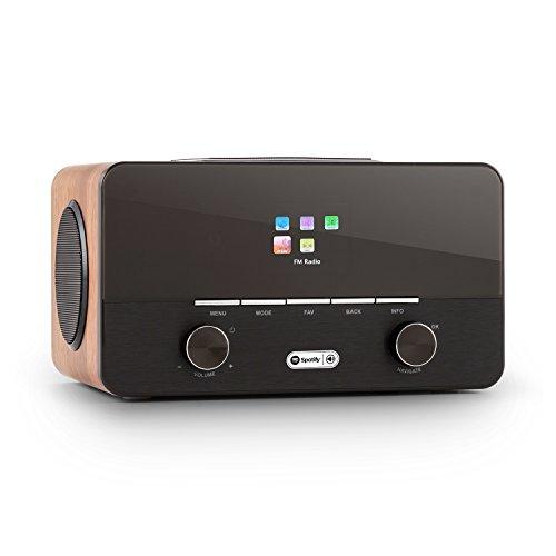 auna Connect 150 Black/Walnut, 2.1 Internet Radio, Wi-Fi Music Player, MP3 USB Port, AUX,...