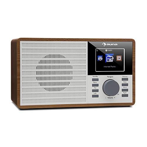 auna IR-160 Internet Radio - Radio Alarm, Digital Radio, WLAN, MP3/WMA-compatible USB...