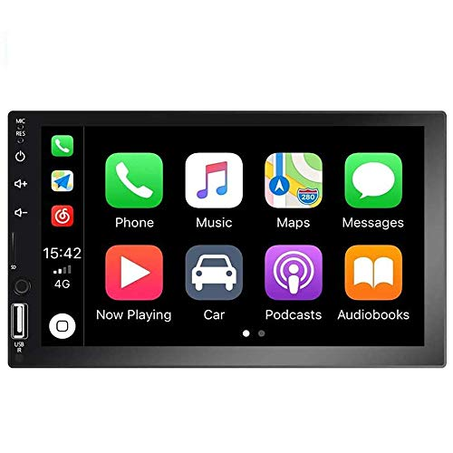 Camecho Double Din Car Stereo 7'' 1080P HD Touch Screen Radio D-Play Universal Car...