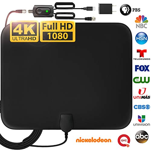 [LATEST 2020] Amplified HD Digital TV Antenna Long 120 Miles Range - Support 4K 1080p Fire...