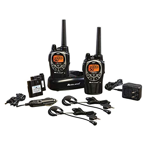 Midland - GXT1000VP4, 50 Channel GMRS Two-Way Radio - Up to 36 Mile Range Walkie Talkie,...