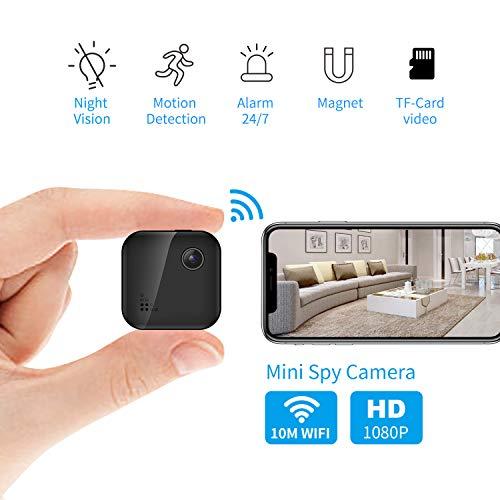 OUCAM Hidden Camera 1080P Mini Spy Camera WiFi Camera with Remote Viewing 380mAH Battery...