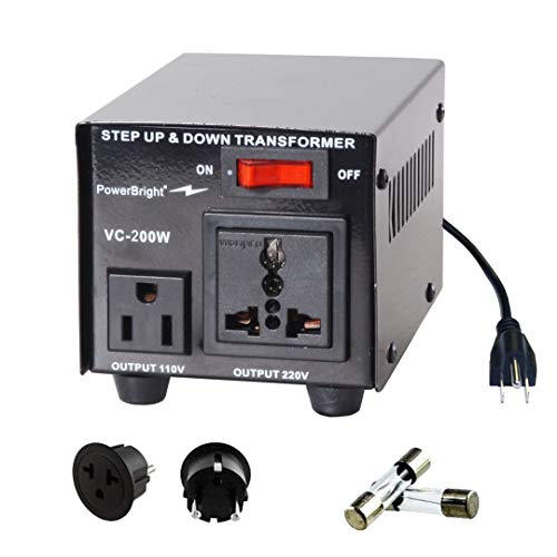 PowerBright Step Up & Down Transformer, Power ON/Off Switch, Can be Used in 110 Volt...