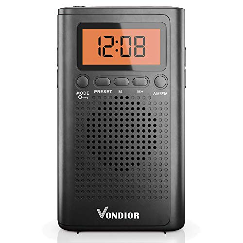 Pocket Radios with Best Reception AM FM. Pocket Radio Player Operated by 2 AAA Battery,...