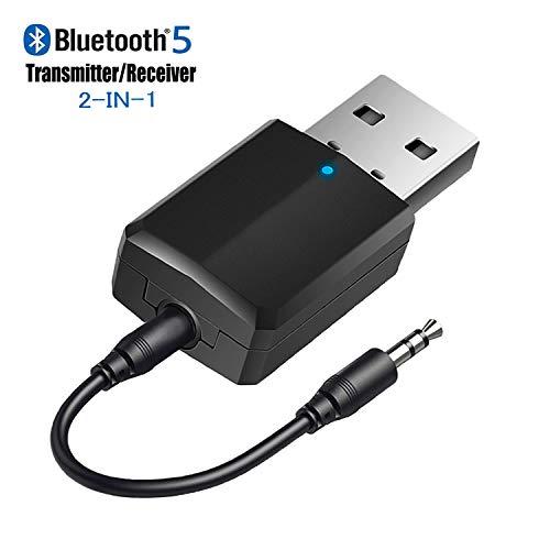 iSbeller USB Bluetooth Transmitter Receiver 2 in 1, Bluetooth Adapter for TV PC Headphones...