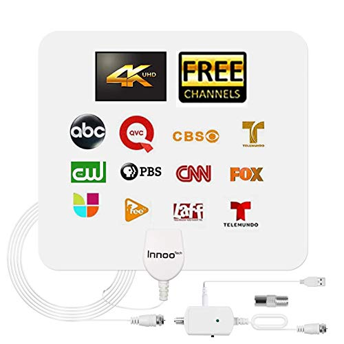 TV Antenna, 2021 Indoor Digital TV Antenna with Amplifier Signal Booster - 180 Miles...
