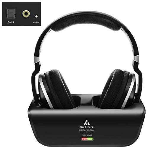 Wireless Headphones for TV Watching with Optical, ARTISTE ADH300 2.4GHz Digital Wireless...
