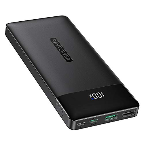 RAVPower Portable Charger 15000mAh PD3.0 Power Bank QC 3.0, 18W High-Speed Ultra Compact...