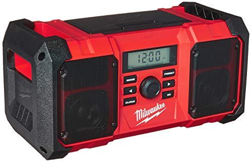 Milwaukee 2890-20 18V Dual Chemistry M18 Jobsite Radio with Shock Absorbing End Caps, USB...