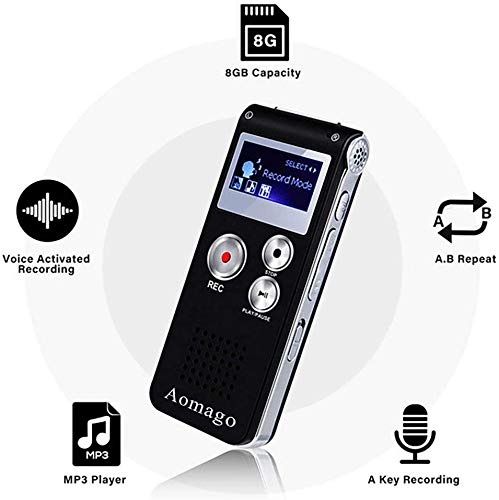 Digital Voice Recorder Voice Activated Recorder for Lectures, Meetings, Interviews Aomago...