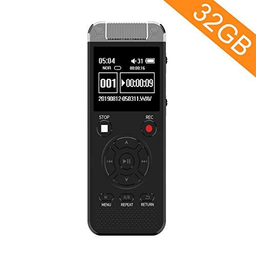 32GB Digital Voice Recorder, Homder Voice Activated Recorder for Lectures...