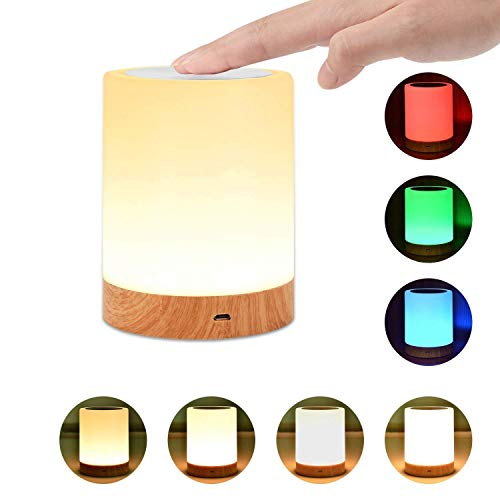 Night Light, UNIFUN Touch Lamp for Bedrooms Living Room Portable Table Bedside Lamps with...