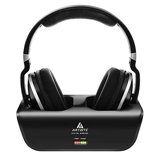 Wireless TV Headphones, Artiste ADH300 2.4GHz Digital Over-Ear Stereo Headphone for TV...