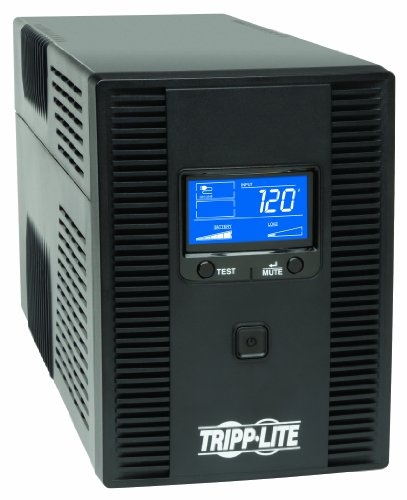Tripp Lite 1500VA 900W UPS Battery Back Up, AVR, LCD Display, Line-Interactive, 10 Outlets, 120V, USB, Tel & Coax Protection, 3 Year Warranty & $250,000 Insurance (SMART1500LCDT)