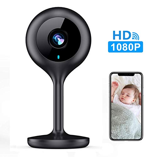 MECO WiFi IP Camera 1080P HD Home IP Security Nanny Camera with Night Vision, Sound &...
