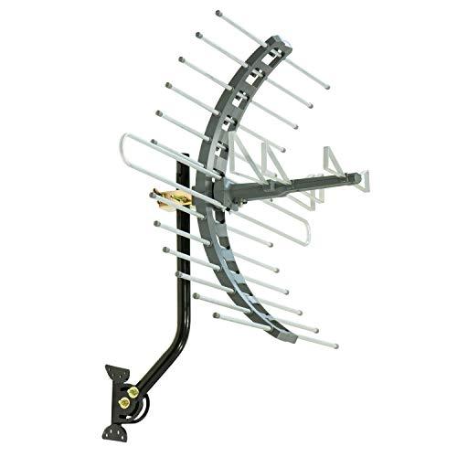 GE Outdoor TV Antenna, Long Range Antenna, 4K 1080P VHF UHF Digital HDTV Antenna, J Mount...