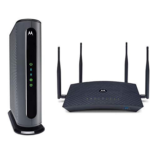 Motorola MB8600 Cable Modem + AC2200 Smart Wi-Fi Router with Extended Range   Top Tier...