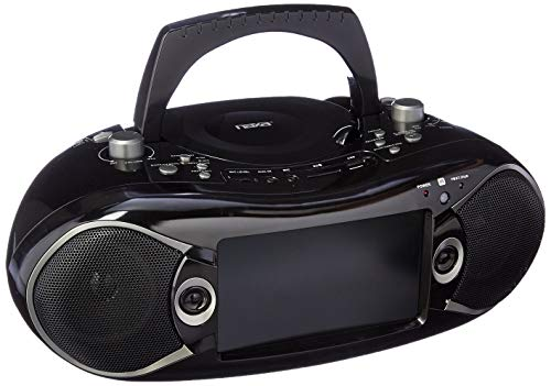 NAXA Electronics NDL-287 7-inch LCD Screen Bluetooth DVD Boombox and TV, Supports...