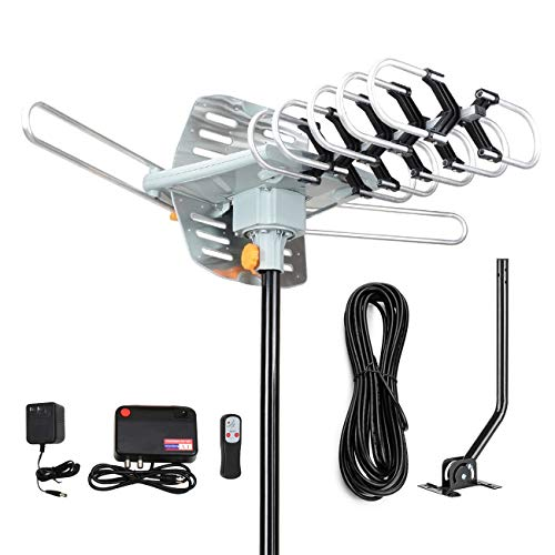 Digital Outdoor Amplified hd tv Antenna 150 Miles Range,Support 4K 1080p and 2 TVs with 33...