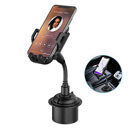 Car Cup Holder Phone Mount, Adjustable Gooseneck Cupholder Cell Phone...