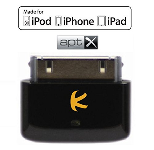 KOKKIA i10s + aptX (Luxurious Black) Tiny Bluetooth iPod Transmitter for iPod/iPhone/iPad...