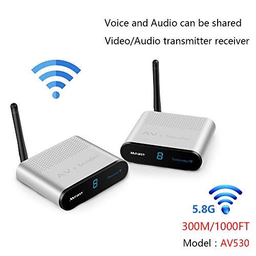 measy AV530 5.8GHz 8 Channel AV RCA Audio Transmitter Wireless Video & Audio Sender...