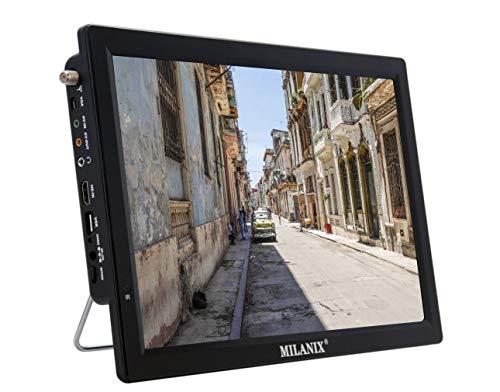 Milanix 14.1' Portable Widescreen LED TV with HDMI, VGA, MMC, FM, USB/SD Card Slot, Built...