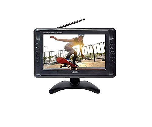 Portable TV 10' Battery Powered Widescreen LCD Small TV Axess TV1703-10 with ATSC Digital...