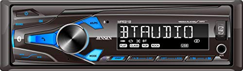 JENSEN MPR319 Single DIN Car Stereo Receiver with 7 Character LCD Built-in...