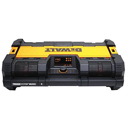 DEWALT ToughSystem Radio and Battery Charger, Bluetooth Music Player (DWST08810)