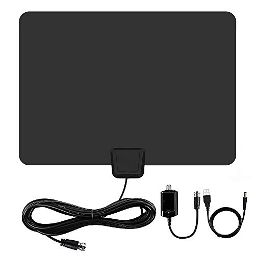 [Newest] Indoor Amplified HD Digital TV Antenna up to 120+ Miles Range -PACOSO HDTV...