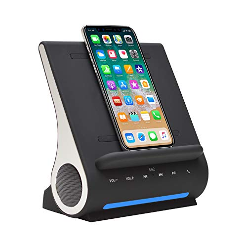 Azpen Dockall D100 - Qi Wireless Charger, Bluetooth Premium Speakers, Docking Station with...