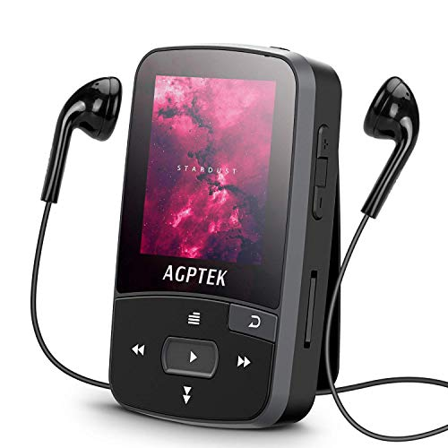 16GB Clip MP3 Player with Bluetooth 4.0, AGPTEK A50S Lossless Sound Music Player with...