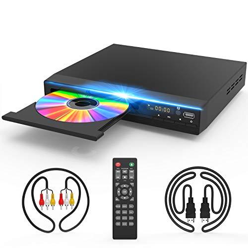 DVD Player for TV, DVD CD Player with HD 1080p Upscaling, HDMI & AV Output (HDMI & AV...